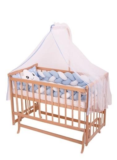 Bebe Konfor Pembe Örgü İle Doğal Karyola Bebek Beşi̇ği̇ Mavi